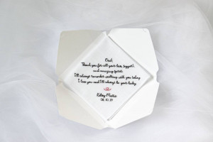 Dad gift from bride, wedding handkerchief for dad, father of the bride gift, wedding gift dad, parents wedding gift, stepfather wedding gift