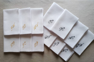 Embroidered handkerchief, Mens handkerchief, Father of the bride, Father of the groom, Personalized handkerchief, Groomsmen gifts, Hanky