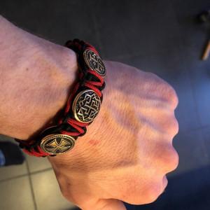 Paracord  bracelet / Viking  bracelet / Scandinavian  jewelry / gift for  him  / parachute  cord  / viking cuff