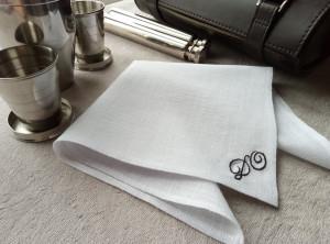 Groomsmen gift, Wedding Handkerchief, Mens handkerchief, Embroidered wedding handkerchief, Personalized Handkerchief, Linen anniversary