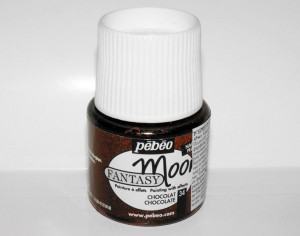Pebeo Fantasy Moon 34 Chocolate Marbled effect acrylic paint Opaque colours with hammered effects Pearlescent finish Multi surface paint A9F