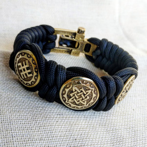 Viking  bracelet / Scandinavian  jewelry / gift for  him / paracord  bracelet / parachute  cord