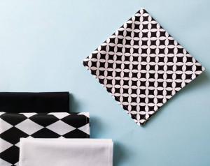 Black and white geometric cotton handkerchiefs set, wedding handkerchief, long distance boyfriend gift for,1 year anniversary gift boyfriend