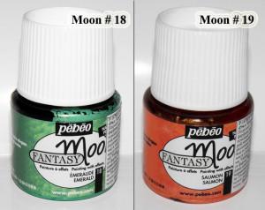 Pebeo Fantasy Moon paint # 18 Emerald or # 19 Salmon color Marbled effect acrylic paint Opaque colours Art paints Multi surface paint A9F
