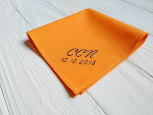 Birthday gift for him personalized, monogrammed handkerchief, christmas gift for friend, gift for men, cotton anniversary, romantic gift