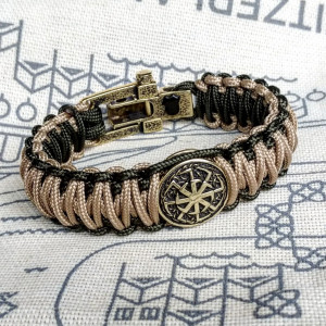 Stylish paracord bracelet / parachute cord / Celtic knot / Scandinavian jewelry / Wristband / skydive paracord shackle