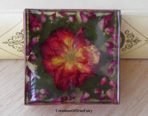Red rose paperweight Floral decor Anniversary gift for women who have everything Gift for women for Christmas Gift for women turning 50 A9F