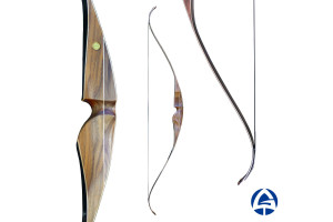 """ELEPHANT BLACK Recurve Laminated 60"""" Bow, Hunting Wooden Bow, Modern Traditional Bow, Gera Bows, Archery Bow Equipment"""