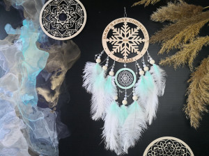 2020 first christmas baby ornament Over the bed wall decor Dream catcher, Home cozy feather Dreamcatcher, middle dream catcher
