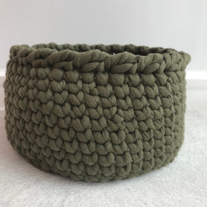 Easter basket Crochet round cotton basket Expecting mom gift