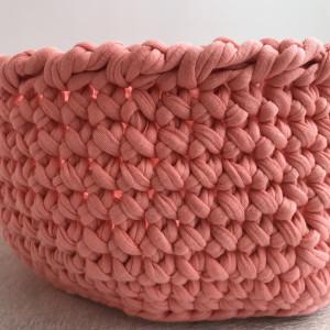 Toy storage cotton basket,  crochet round basket,