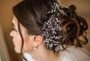 Hair Vine Bridal Hair Accessory Prom Hair Wedding Hair Piece Pearl Wedding Hair Vine Pearl Hair Vine Wedding headpiece Rhinestone headpiece