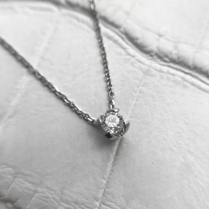 Diamond Solitaire Necklace, Floating Diamond Necklace, Gold Pendant Necklace, Delicate Layered Necklace