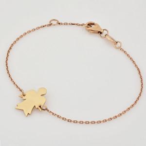 14K Solid Gold Angel Bracelet, Angel Wing Bracelet, Christian Charm Bracelet, Dainty Bridesmaid Bracelet