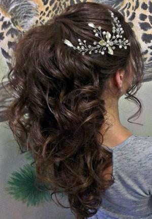 Long hair vine Bridal hair vine Crystals Bridal Wedding Wedding hair vine pearl hair vine Wedding Hair Accessories Gift for wife Gift idea