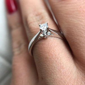 4 Prong Setting Diamond Ring, Three Stone Ring, Promise Ring For Her, Four Prong Ring, Gold Rings For Women