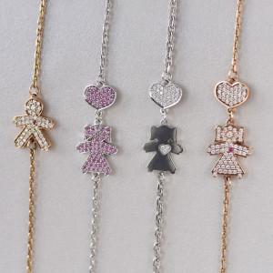 14K Gold Custom Name Bracelet, Minimalist Bracelets For Women, Diamond Bracelet, Customized Dainty Charm Bracelet, Gift For Mom