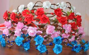 Hen party flower crown, Bachelorette party, Bride Party headband, Flower crown, Bridal shower, Team bride floral crown, Hen Party Crown