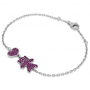 Push Gift For New Mom, Pink Sapphire Bracelet, New Mom Bracelet, Push Present Personalised Gold Bracelet Baby Name Bracelet Mothers Day Gift