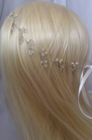 Bridal hair vine, Bridal Jewelry, Crystal hair vine, Bridal hair crown, Wedding hair vine, Silver Hair Vine, Crystal Hair Piece, Bridal halo