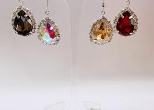 Silver Bridal Earrings Crystal Zirconia Wedding Earrings Light Pink Earrings Bridesmaid Earrings Bridal Set Gold Bridesmaid Bridal Jewelry