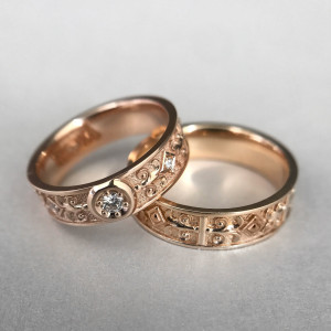 Celtic Wedding Rings,  Antique Wedding Band, Wedding Ring Set His and Her, His and Hers Wedding Bands