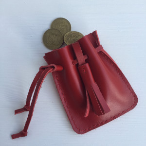 Personalized wallet, Leather Coin Bag, Coin Purse, Mini Change Purse, jewelry bag, drawstring pouch