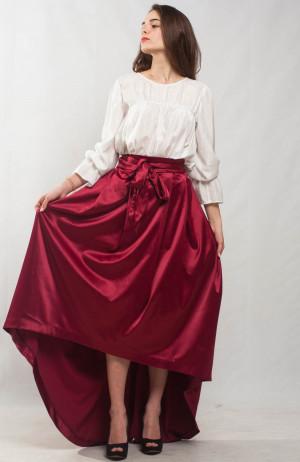Marsala maxi skirt flared skirt asymmetric skirt formal floor skirt special day skirt maroon cocktail skirt bridesmaid skirt prom wine skirt