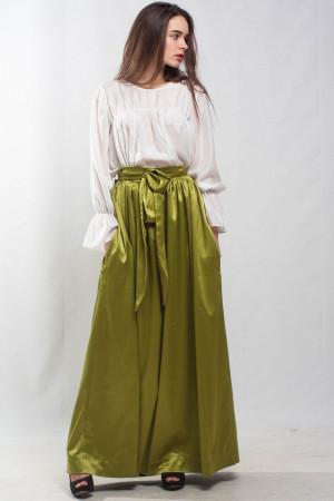 Maxi lime skirt flared skirt pleated skirt formal floor skirt special day skirt green pockets cocktail skirt bridesmaid skirt prom skirt