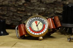 Mens watch, 24 hour watch, Raketa watch, rare watch, soviet USSR watch, antique vintage watch