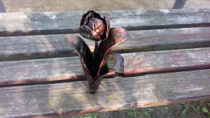 Forged tulip, iron flower, birthday gift for her, gift for her, birthday, birthday gift for girlfriend, wedding gift, eternal flower
