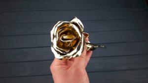 8th anniversary gift, 8th anniversary, bronze anniversary, bronze sculpture, 8 year anniversary, 8th wedding, bronze rose, bronze flowers