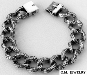 Tribal heavy wide curb men's bracelet solid 925 sterling silver art gift chain box clasp