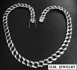 Heavy mens necklace solid 925 sterling silver chain curb cuban heavy wide box clasp