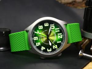 """Soviet watch, Shturmanskiye Alarm watch, Vintage Green watch, USSR watch, Mens Poljot watch """"Yuri Gagarin, the first man in space"""""""