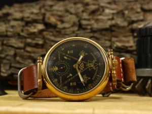 Soviet watch, USSR Masonic watch, gift for him, mens vintage watch, original USSR watch