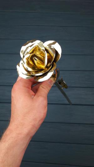 Bronze rose, Bronze gift for anniversary, 8 years anniversary, bronze anniversary gift, anniversary gifts, bronze gifts, bronze flowers