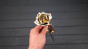 19th anniversary gift, bronze rose, 19 years anniversary, 19 year wedding gift, 19 year,19th anniversary gifts, gift for her, bronze flowers