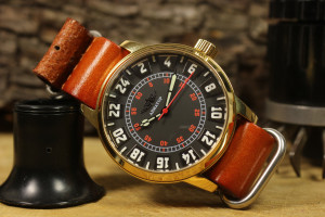 Vintage watch, Raketa watch, 24 hour watch, USSR watch, mens soviet watch, USSR antique watch