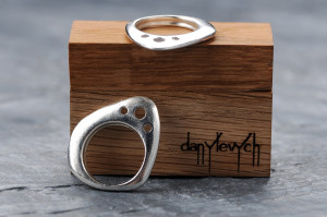 triangle Minimalist signet Silver ring