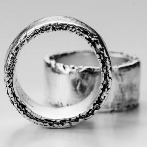 Sterling Silver Brutal Ring, Brutal biker ring, biker rings Bands