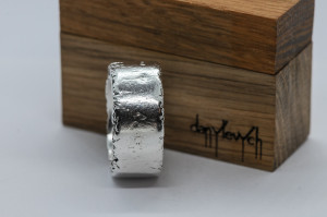 sterling silver ring, biker ring mens bear ring