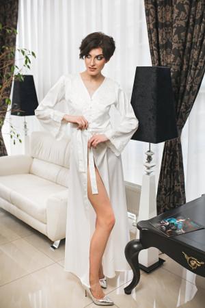 Long bridal robe, Wedding bay, Lace bride robe, Floor length gown