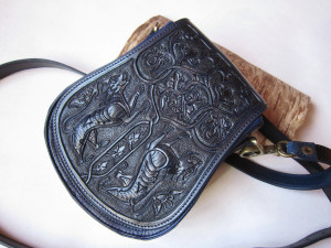 Medieval bag, leather tool bag, lion bag, cross body bag, leather shoulder bag,  leather clutch bag