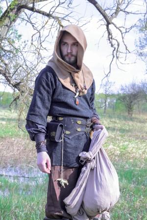 Larp belt, costume belt, medieval belt, Viking leather belt, waist armor