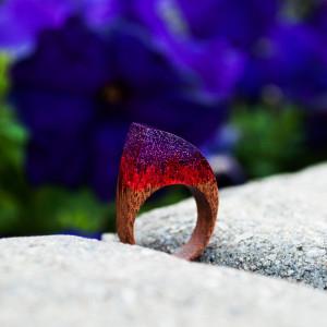 Resin Wood Ring for Women