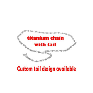 Titanium chain necklace, Jewelry chain, Unisex jewelry, Blue jewelry, Necklace chain