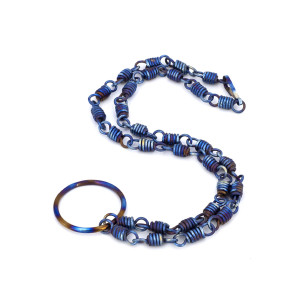 Titanium O ring eternity collar 17 inches, Day collar discreet, Bdsm collars, Karma necklace