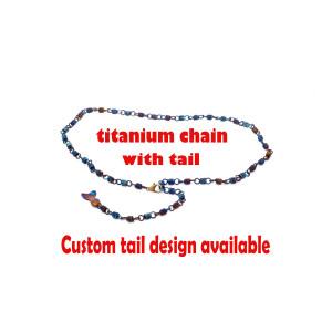 Titanium Chain necklace, Titanium chain necklace, Jewelry chain, Unisex jewelry, Blue jewelry, Necklace chain
