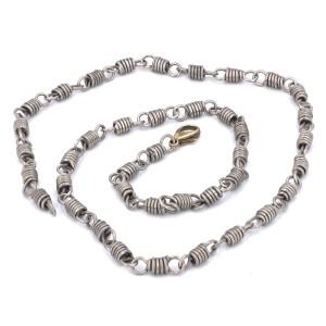 Chain Titanium Mens necklace, Unisex jewelry, Blue jewelry, Unisex gifts, Necklace chain